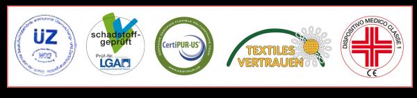 loghi certificazioni flexilan